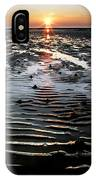 Sunset At The West Shore Llandudno IPhone Case