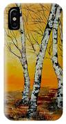Sunset Birches IPhone Case