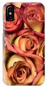 Sunset Colored Roses IPhone Case