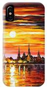 Sunset In Barcelona IPhone Case