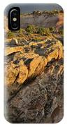 Sunset On Boulders Of Bentonite Site On Little Park Road IPhone Case