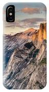Sunset On Half Dome IPhone Case by Adam Mateo Fierro