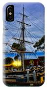 Sunset Over A Tall Ship IPhone Case