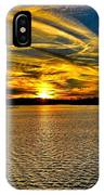 Sunset Over Lake Palestine IPhone Case