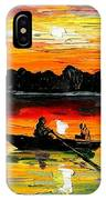 Sunset Over The Lake IPhone Case