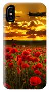 Sunset Poppies Fighter Command IPhone Case