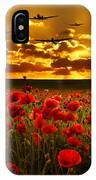 Sunset Poppies The Bbmf IPhone Case