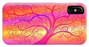 Sunset Tree Cats IPhone Case
