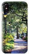 Sunshine On Savannah Sidewalk IPhone Case