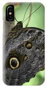 Superb Markings On An Owl Butterfly In A Garden IPhone Case