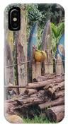 Surfboard Fence Hawaii IPhone Case
