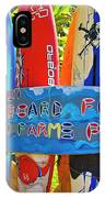 Surfboard Fence-the Amazing Race  IPhone Case