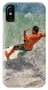 Surfing Action  IPhone Case