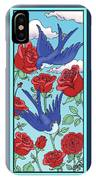 Swallows And Roses IPhone Case