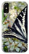 Swallowtail And Plum Blossoms IPhone Case