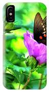 Swallowtail In Flower IPhone Case
