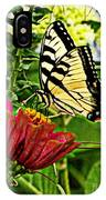 Swallowtail On A Zennia IPhone Case