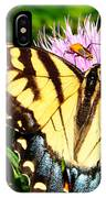Swallowtail On Thistle IPhone Case