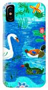 Swan And Two Ducks IPhone Case