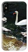 Swan Feather IPhone Case