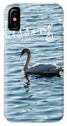 Swan Miss You IPhone Case
