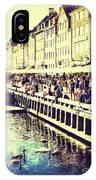 Swans In Nyhavn IPhone Case