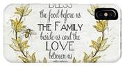 Sweet Life Farmhouse 4 Laurel Leaf Wreath Bee Bless This Food IPhone Case