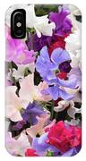 Sweet Pea Spencer Flowers IPhone Case