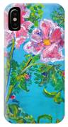 Sweet Pea Flowers On A Vine IPhone Case