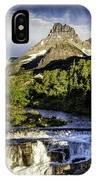 Swiftcurrent Falls Glacier Park 3 IPhone Case