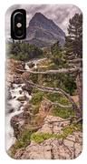 Swiftcurrent Lake Falls IPhone Case