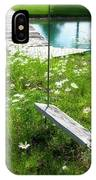 Swing In The Daisies With Bridge IPhone Case