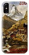 Swiss Travel Poster, 1898 IPhone Case