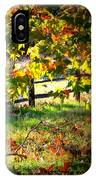 Sycamore Grove Fence 2 IPhone Case