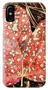 sycamore maple Autumn leaf IPhone Case
