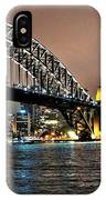 Sydney Harbor Bridge Night View IPhone Case