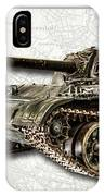 T-54 Soviet Tank W-bg IPhone Case