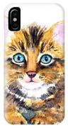 Tabby Kitten Watercolor IPhone X Case
