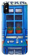 Table For Two In Greece IPhone Case