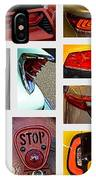 Tail Light Collage Number 1 IPhone Case