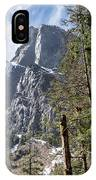 Tall Mountain Peaking Behind Pacific Northwest Forest Trees IPhone Case