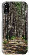 Tall Pine Lined Path IPhone Case