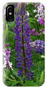 Tall Purple Luppin IPhone Case