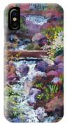 Tall Waterfall At The Botanic Gardens IPhone Case