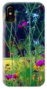 Tall Wisphy Flowers Of Pink IPhone Case