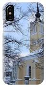 Tallin Church In Winter IPhone Case