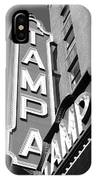 Tampa Theatre Bw IPhone Case