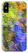 Tangerine Twist Mosaic Abstract Art IPhone Case