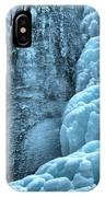 Tangle Falls Frozen In Blue IPhone Case