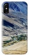 Tangsey Village Landscape Of Leh Ladakh Jammu And Kashmir India IPhone Case